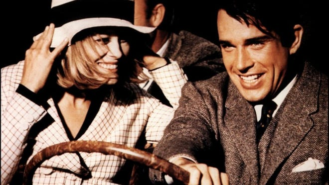 """Notorious bank-robbers (Faye Dunaway, Warren Beatty) go on a crime spree during the Great Depression and become folk heroes along the way when the game-changing gangster film """"Bonnie and Clyde"""" (1967) hits the big screen once again for its 50th anniversary at 2 and 7 p.m. Sunday and Wednesday at The Movies at Governor's Square. Directed by Arthur Penn (""""Little Big Man""""), the box office and critical smash upped the ante in Hollywood when it came to making pictures with blood splater and ramped-up violence. Dunaway, by the way, is a North Florida actress who grew up in Jackson County, went to high school in Tallahassee and learned to act by appearing in plays at Florida State. """"Bonnie and Clyde"""" is rated R and being presented by Turner Classic Movies. Visit www.fandango.com."""