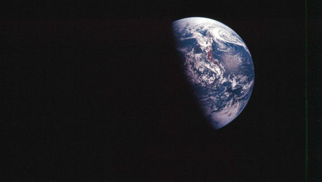 A 1968 image released by NASA shows the Earth, and was taken during the Apollo VIII mission.