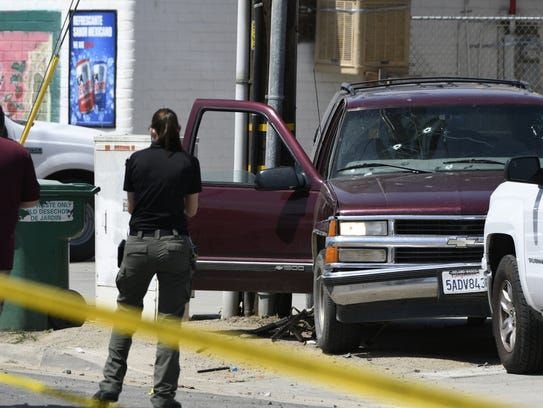Law enforcement investigates an officer-involved shooting