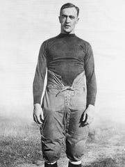 George Gipp, All American from Notre Dame, is shown