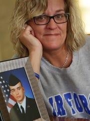 Kimberly Knapp, the mother of Airman Cameron Shapiro,