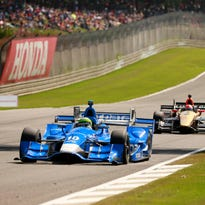 Mother Nature refuses to play nice on IndyCar's first day at Barber