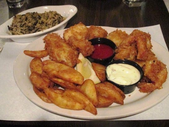 Cod at fish fry at the Log Cabin in Howards Grove is