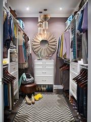 Master bedroom closet with ClosetMaid DIY Laminate