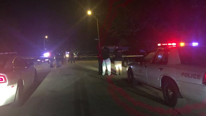 Police are investigating the scene of a possible homicide in the 4000 block of Cass Court in Indianapolis Thursday, Aug. 18, 2016.