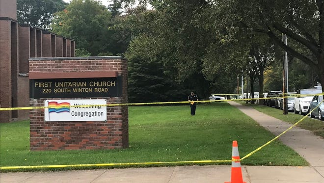 A 24-year-old man was seriously injured in an apparent break-in at First Unitarian Church of Rochester.