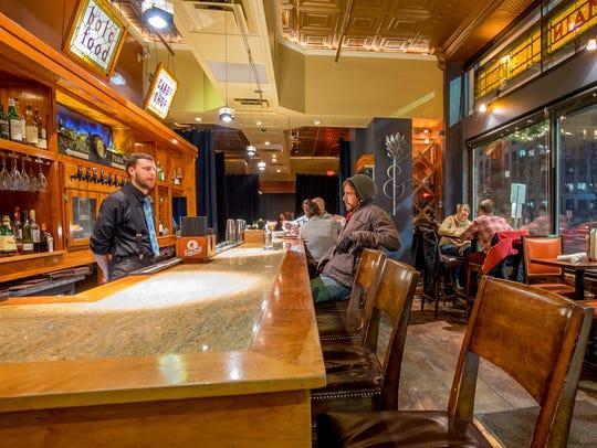 The bar at Church & Main on Church Street in Burlington.