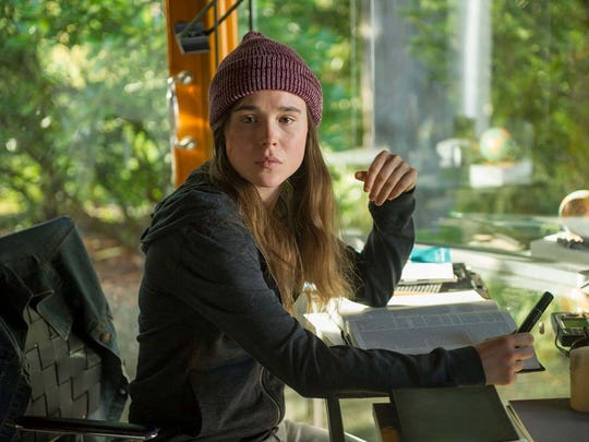 "When power goes out all over the world in ""Into the Forest,"" this young student (Ellen Page) takes dad's advice and does her studying with old-fashioned technology: books."