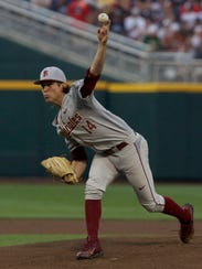 Florida State starter Tyler Holton struck out eight