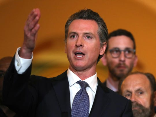 Gov. Gavin Newsom, while campaigning for his  original job, said he supported a ban on fracking.