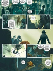 See a page from Kareem Abdul-Jabbar's new Mycroft Holmes