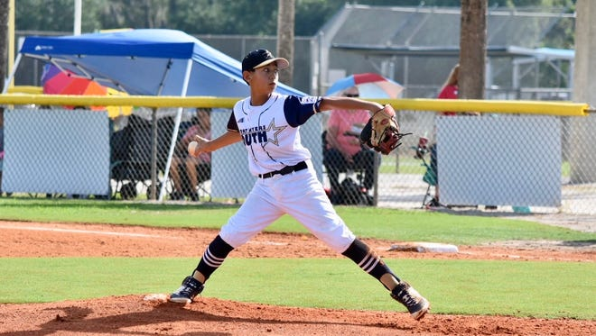 South Fort Myers Little League pitcher Aidan Knaak delivers during the Section 6 tournament last weekend.
