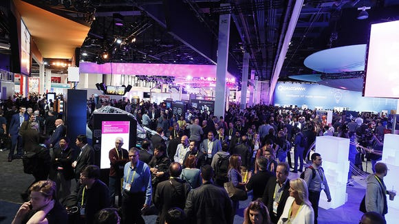The CES show floor from 2017