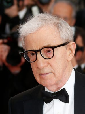 Woody Allen arrives for the screening of 'Irrational Man' during the 68th annual Cannes Film Festival, in Cannes, France.