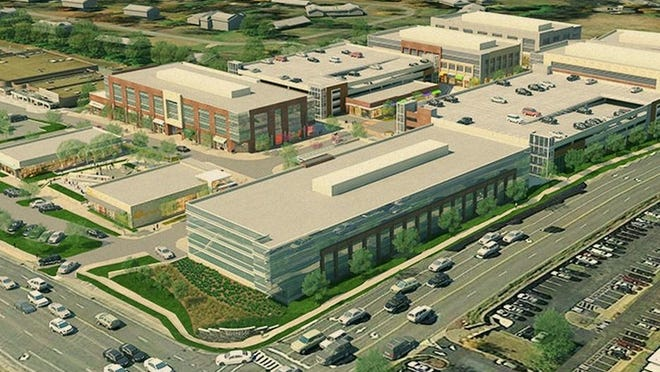 Developer H.G. Hill has submitted site plans for the first phase of Hill Center Brentwood, a multiuse development on the southwest corner of Franklin Road and Maryland Way in Brentwood.