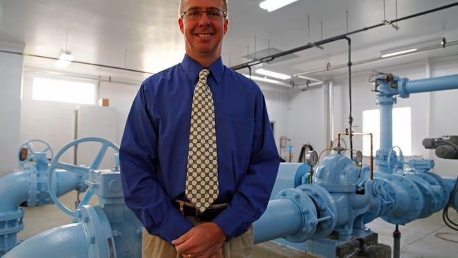 Todd Steigerwaldt, general manager of the Marion Water Department, stands inside the city's water plant Friday. The city of Marion gets its water from the Jordan aquifer.