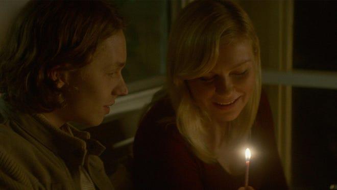 "Jack Kilmer and Kirsten Dunst star in ""Woodshock."""