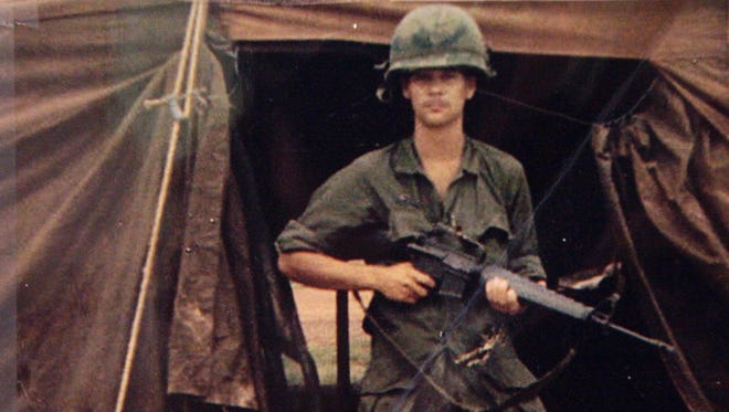 Eddie Johnson, a local Army veteran, is pictured in this Vietnam-era war photograph. Johnson was deployed to the war zone from 1967-68, returning with a crippling case of PTSD.
