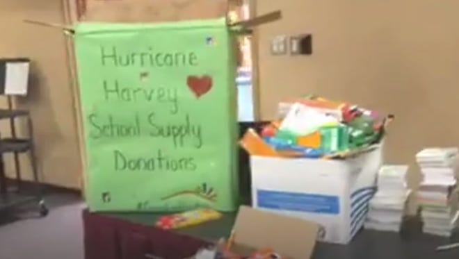 LCPS donates truck loads of school supplies to Houston Independent School District in wake of Hurricane Harvey.