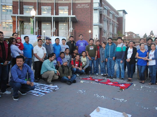 Reno's Nepalese community lit candles Wednesday at the University of Nevada, Reno in honor of the victims of Nepal's Saturday, April 25 earthquake that had a magnitude of 7.8 and currently has a rising death toll of more than 5,000.