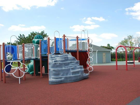 Playground at Ortley Beach's newly repaired Bayside Park.