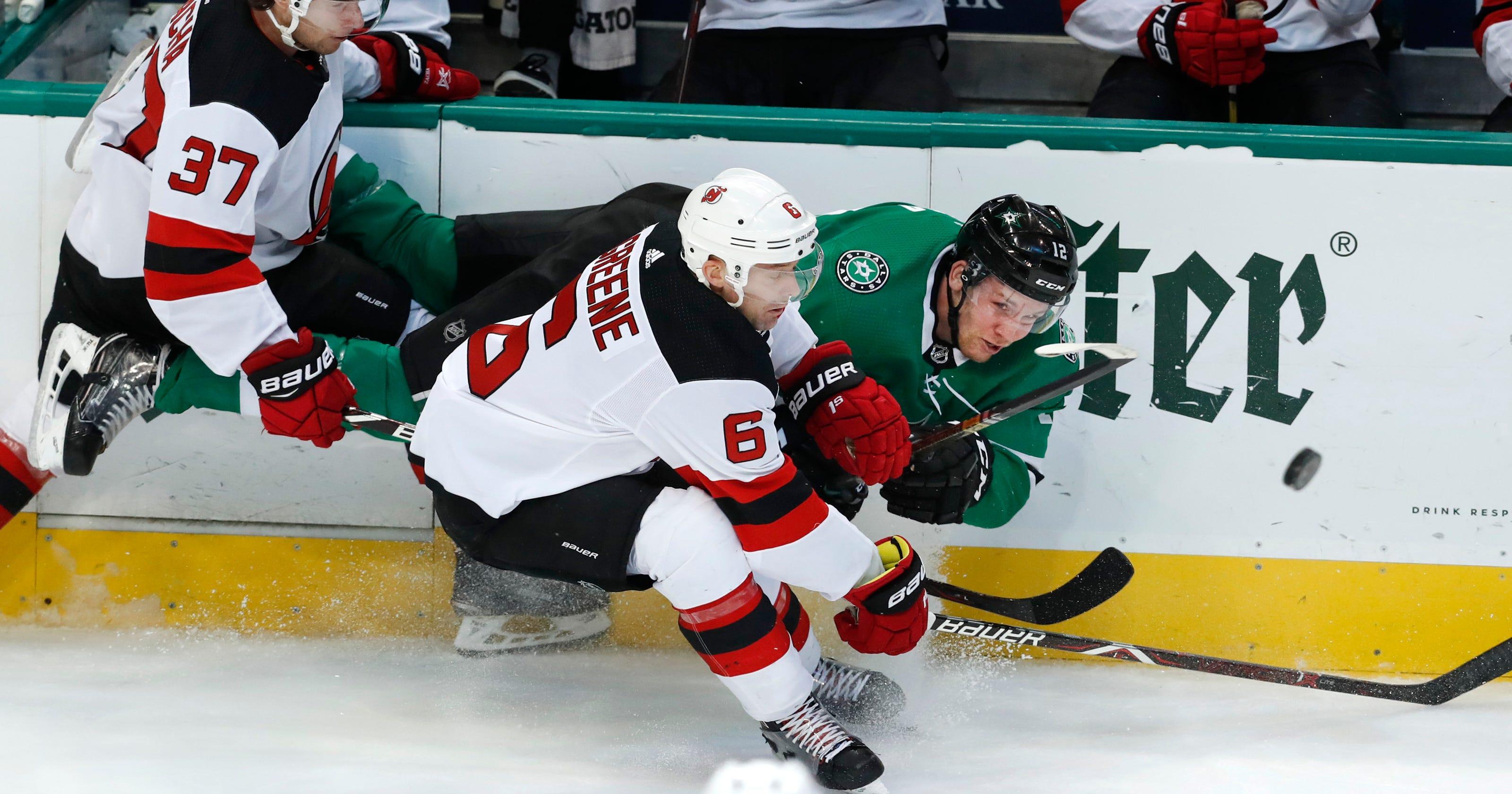 f12d5c425a5 Heiskanen's third-period goal lifts Stars over Devils 5-4