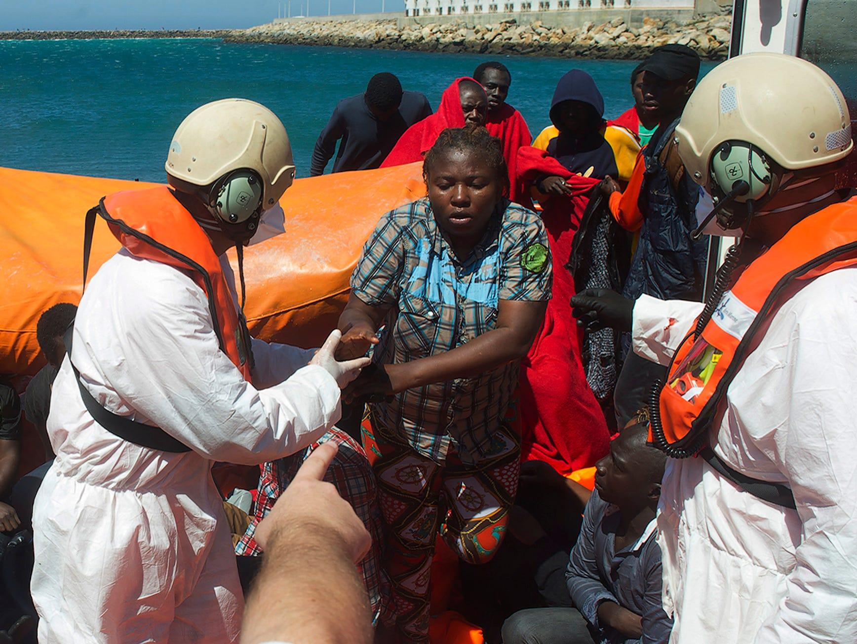 Migrants helped