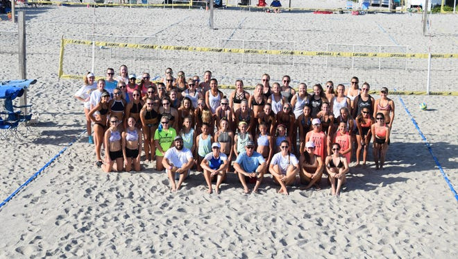 A total of 28 teams participated in Saturday's beach volleyball event.