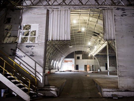 The quonset hut inside the Kern's Bakery Building on Chapman Highway in Knoxville.