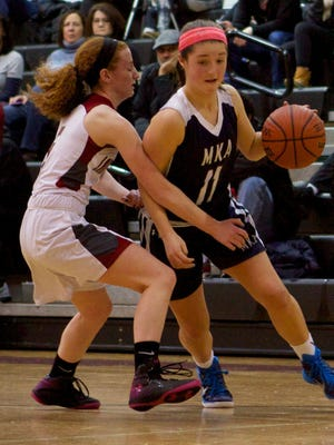 Montclair Kimberley Academy junior girls' basketball player Kerri McGuire returns to the starting lineup this season