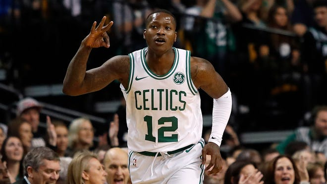 Terry Rozier finished with 17 points, 11 rebounds and 10 assists.