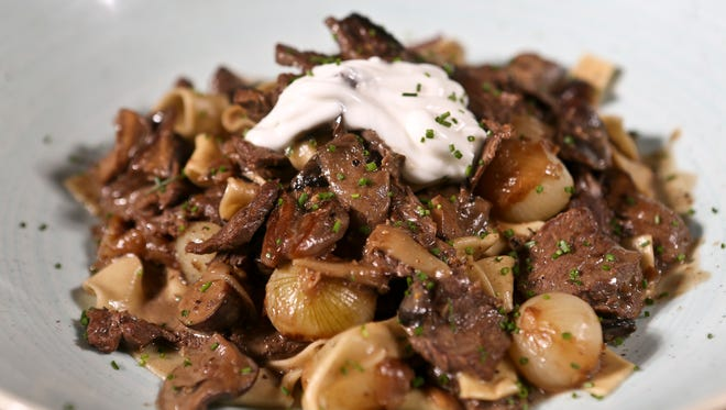 Beef Stroganoff at Le Moo.