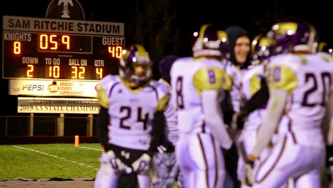 With less than six seconds on the clock the Waynesboro Little Giants crush Turner Ashby in the last game of the regular season on Friday, November 7, 2014 in Bridgewater.