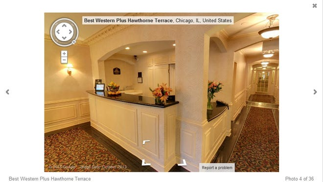 The Best Western Plus Hawthorne Terrace Hotel in Chicago offers prospective guests a peek with Google Business Photos.