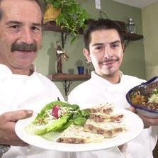 Owner-Chef Moises Treves at Such is Life in 2002, with his brother and fellow owner Jorge Gonzalez.