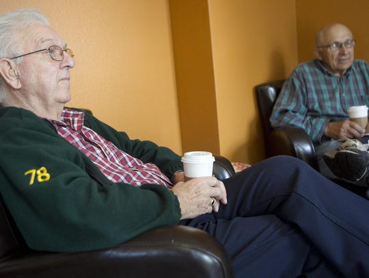 Gale Brehm of Plover, left, and George Feltz of Stevens