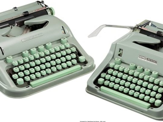 """This undated photo provided by Heritage Auctions shows two of Larry McMurtry's typewriters he is selling which he used to write his Pulitzer Prize-winning novel """"Lonesome Dove."""" Heritage Auctions is offering up the typewriters in New York City next week and the Dallas-based auction house expects them to sell for about $20,000."""