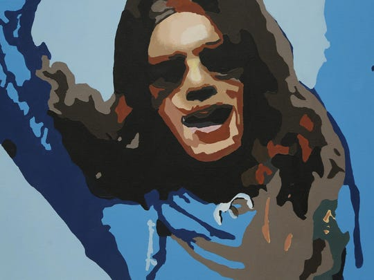 A painting by a Chicago artist of the late Shannon Hoon.