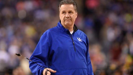 Kentucky Wildcats head coach John Calipari during practice