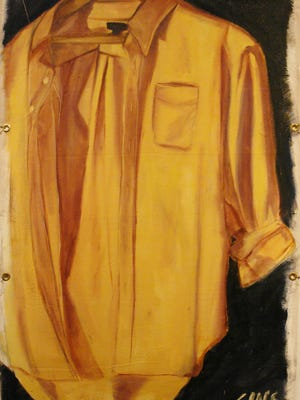 """Yellow Shirt"" Oil on Canvas by UW‐Sheboygan student, Grace Gagnon of New Holstein."
