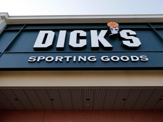 A Dick's Sporting Goods store is seen in Arlington Heights, Ill., Wednesday, Feb. 28, 2018. Dick's Sporting Goods announced Wednesday that it will immediately end sales of assault-style rifles and high capacity magazines at all of its stores and ban the sale of all guns to anyone under 21. Dick's had cut off sales of assault-style weapons at Dick's stores following the Sandy Hook school shooting. But Dick's owns dozens of its Field & Stream stores, where there has been no such ban in place.