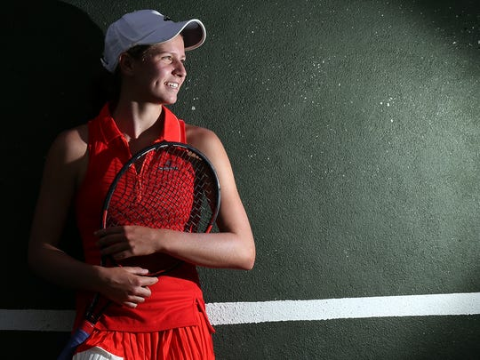 Gianna Pielet is ranked No. 1 in the nation in 14 and under tennis.