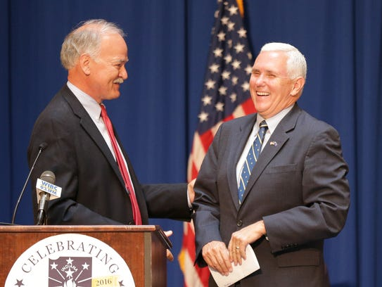 Indiana Governor Mike Pence is surprised by Executive