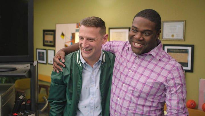 "Sam Richardson and Tim Robinson in ""Detroiters."""