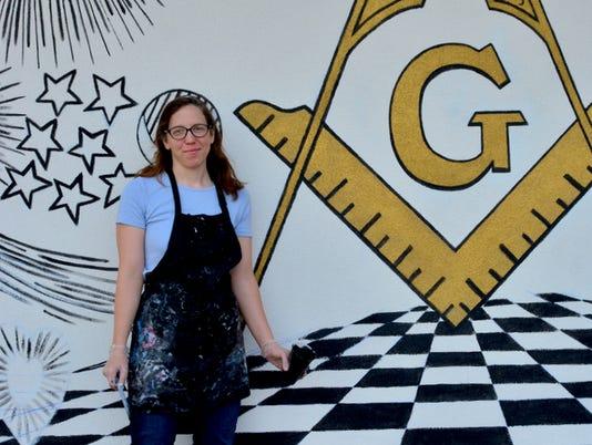 Local artist creates Masonic mural