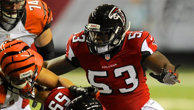 Brian Banks attempts to make a tackle in an Aug. 8 preseason game vs. the Bengals.
