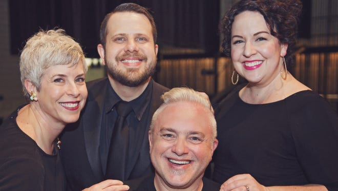Lyric Opera of Chicago vocalists Pamela Williams, Michael Cavalieri, Desiree Hassler and John Concepcion, clockwise from left, will sing the songs of American composer Leonard Bernstein in concert May 26 at Shepherd of the Bay Lutheran Church in Ellison Bay.