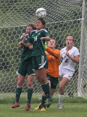 D.C. Everest's Dorene Sanchez, center, was named to the second-team all-state squad by the Wisconsin Soccer Coaches Association Thursday.