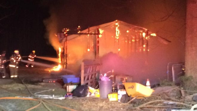 A barn fire in Millsboro killed four horses Wednesday, March 22.