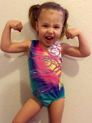 Emma Rester is a 3-year-old gymnast who was featured